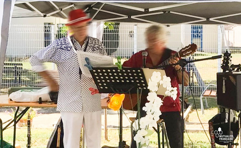 Journée festive à l'Ehpad la Roselière de Marsillargues (Hérault)
