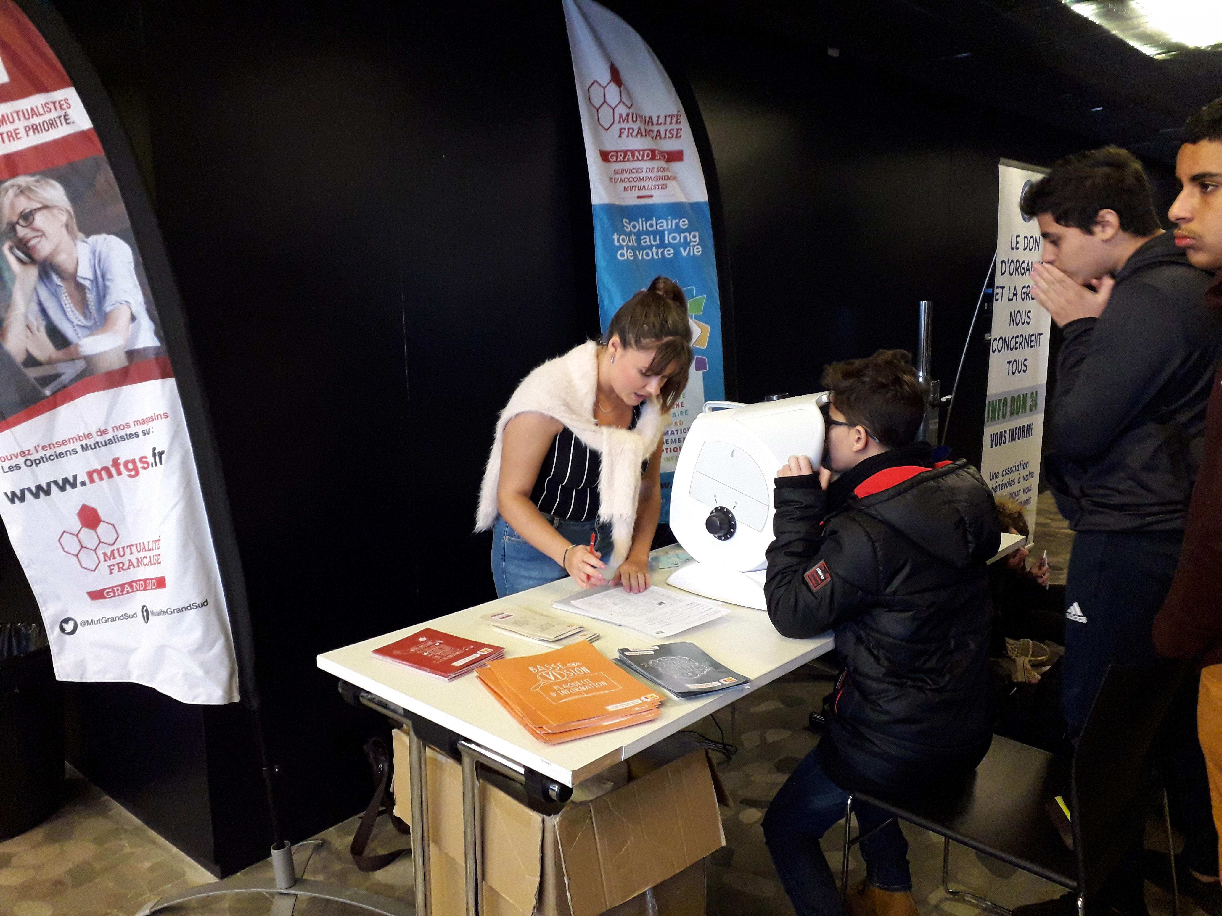 Dépistage optique : Les Opticiens Mutualistes au Village Santé de Montpellier