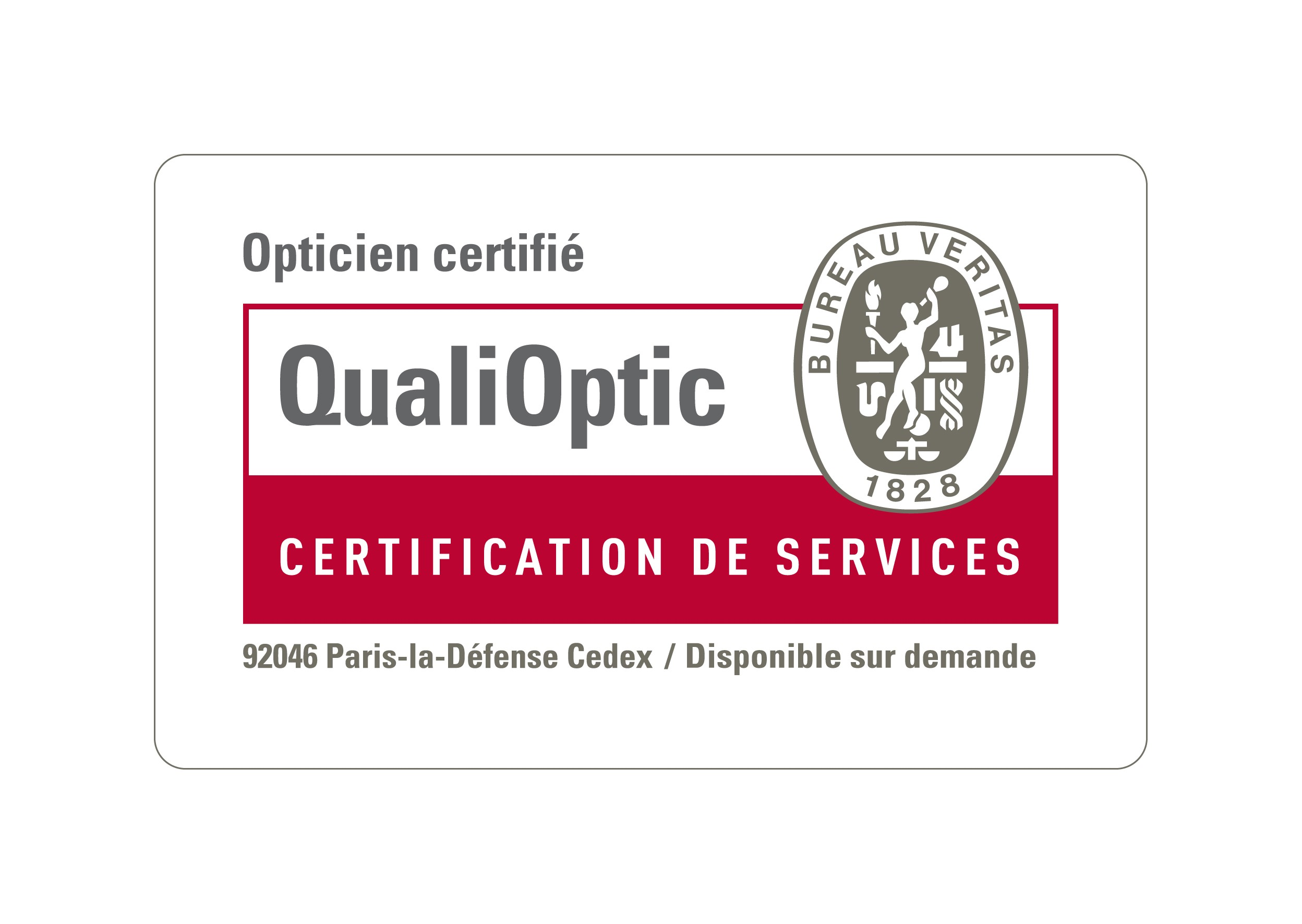 Les Opticiens Mutualistes Visuel  Certification QualiOptique