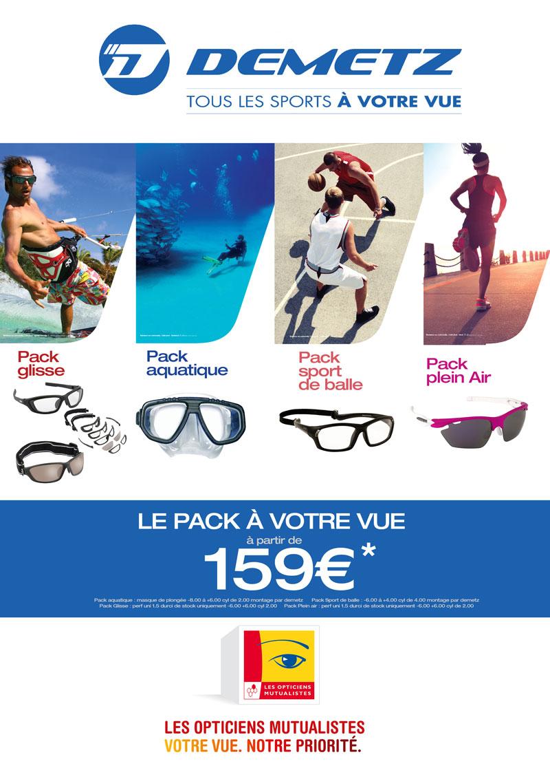 Les Opticiens Mutualiste Montures Lunettes Sport Aquatique Glisse Offre  Demetz A4 4b69f121ca97