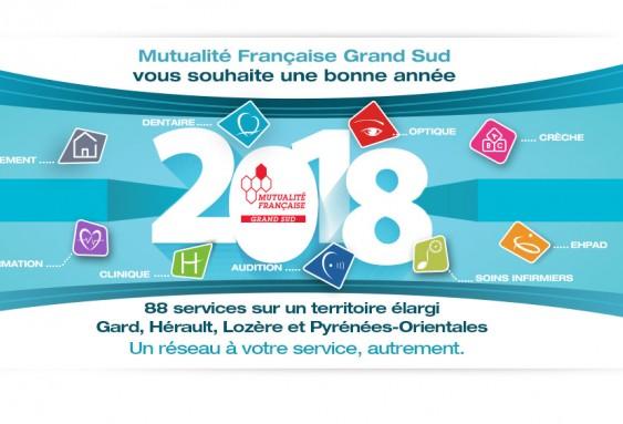 Meilleurs vœux de la Mutualité Française Grand Sud pour 2018