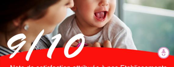 Retour d'expérience 2021 : satisfaction des parents dans nos crèches