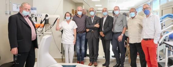 Innovation : une plateforme d'aide à la marche à la clinique Jean Léon grâce au soutien de la Mutuelle de l'Industrie du Pétrole
